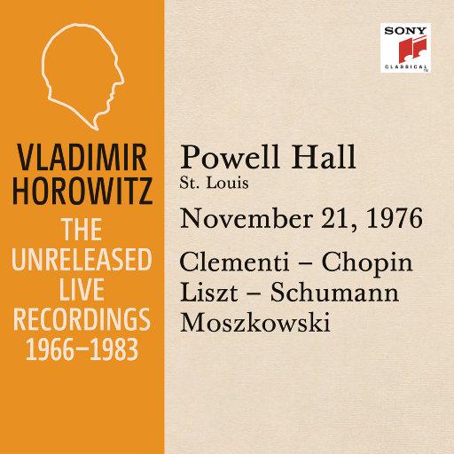 霍洛维茨:鲍威尔音乐厅独奏现场,圣路易斯,1976.11.21,Vladimir Horowitz