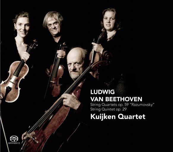 贝多芬:弦乐四重奏作品集 Op.59 & 弦乐五重奏(2.8MHz DSD),Kuijken Quartet