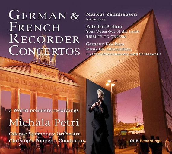 德国 & 法国竖笛协奏曲 (German & French Recorder Concertos) [352.8kHz DXD],Michala Petri,Odense Symphony Orchestra,Christoph Poppen