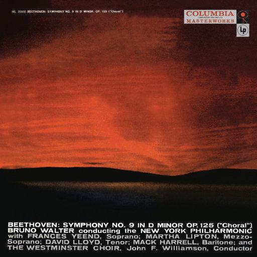 """贝多芬: D小调第9交响曲""""合唱"""" (瓦尔特 & 纽约爱乐乐团),Bruno Walter"""
