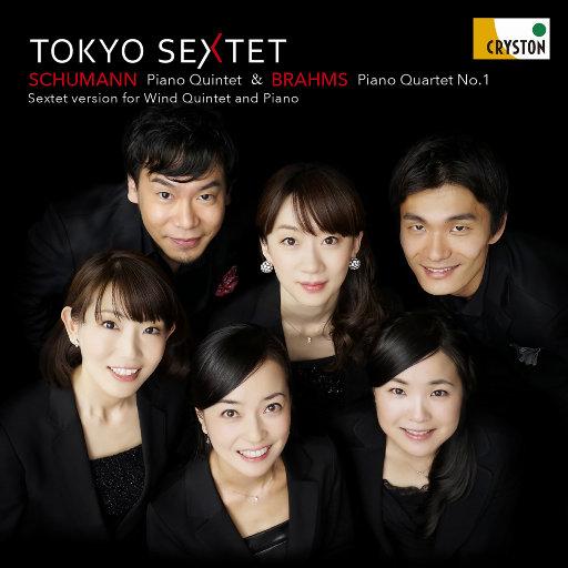 勃拉姆斯: 第一钢琴四重奏 & 舒曼: 钢琴五重奏 (木管五重奏与钢琴的六重奏版本) [2.8MHz DSD],东京六人组 (Tokyo Sextet)