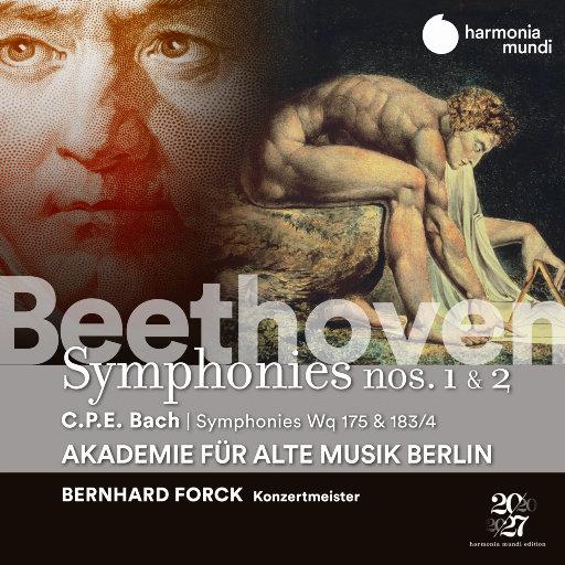 贝多芬: 第一 & 第二交响曲 - C.P.E. 巴赫: 交响曲, Wq 175 & 183/17,Akademie für Alte Musik Berlin,Bernhard Forck