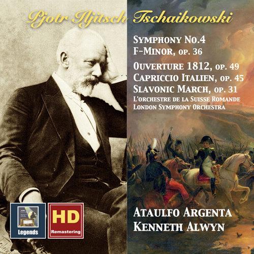 柴可夫斯基: 第四交响曲 / 意大利随想曲 / 斯拉夫进行曲 / 1812欢庆序曲 (阿尔文, 阿根塔) (1958年版),Kenneth Alwyn