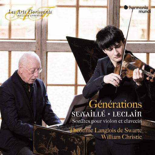 """""""世代"""" 塞纳耶 & 勒克莱尔: 小提琴和大键琴奏鸣曲,Théotime Langlois de Swarte,William Christie"""